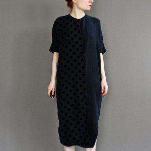 Assembly New York minimal dot twist midi dress